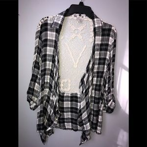 American Rag lace plaid flannel